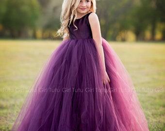 8261e95f78a Purple Flower Girl Dress Plum Tutu Dress Eggplant Tulle Dress Flower Girl  Wedding - All Colors