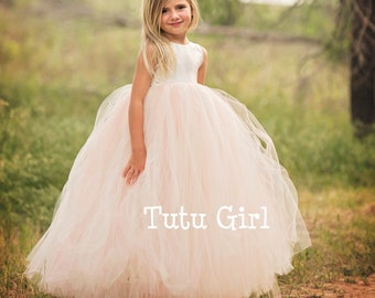 216d20115 Flower Girl Dresses, Tulle Flower Girl Dress Blush, Blush Tutu Dress