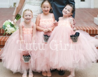 Flower Girl Dress Flower Girl Dresses Girls Tulle Dress Etsy