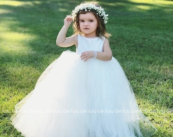 f5a56d84d26 Flower Girl Dress Ivory
