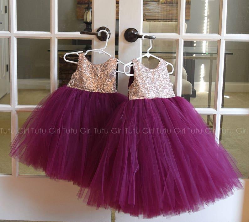 ce8121819 Burgundy Flower Girl Dress Wine Flower Girl Tutu Dress Wine