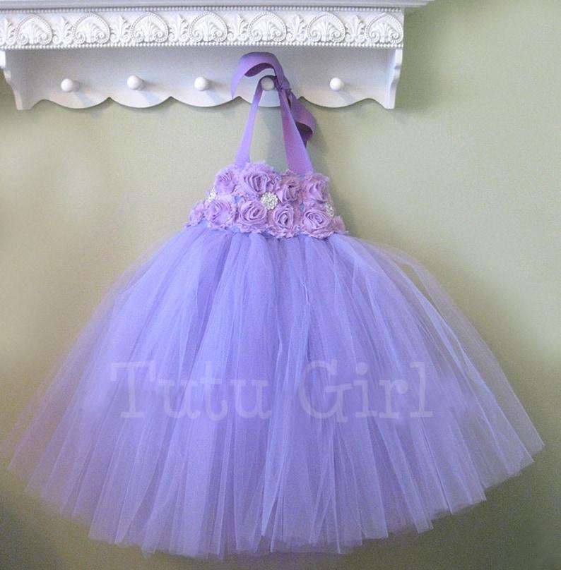cbdf05361 Lavender Flower Girl Tutu Dress Purple Tutu Dress Girls | Etsy