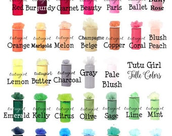 Swatches for our Tutus and Tutu Dresses
