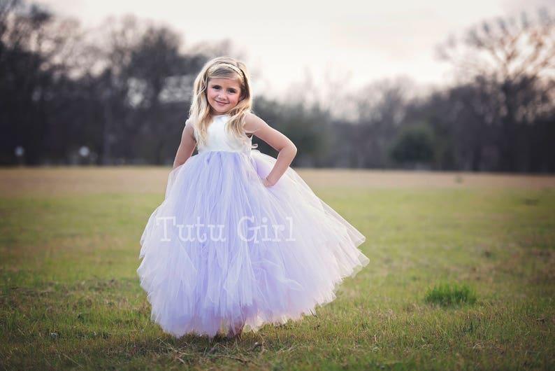 cab3a958664 Lavender Flower Girl dress Ivory Lavender Tutu Dress