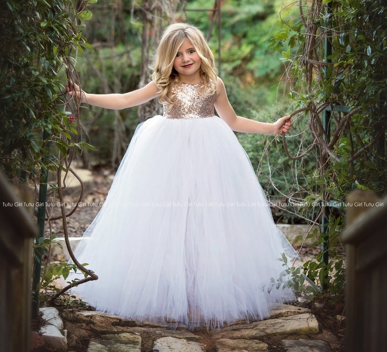 9151fc1d957 Rose Gold Flower Girl Dress Rose Gold Sequin Sleeveless Tutu