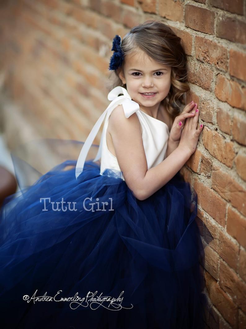 Flower Girl Dress Birthday Outfit Custom One Strap Flower Girl Tutu Dress One Shoulder Tutu Dress Tulle Birthday Dress