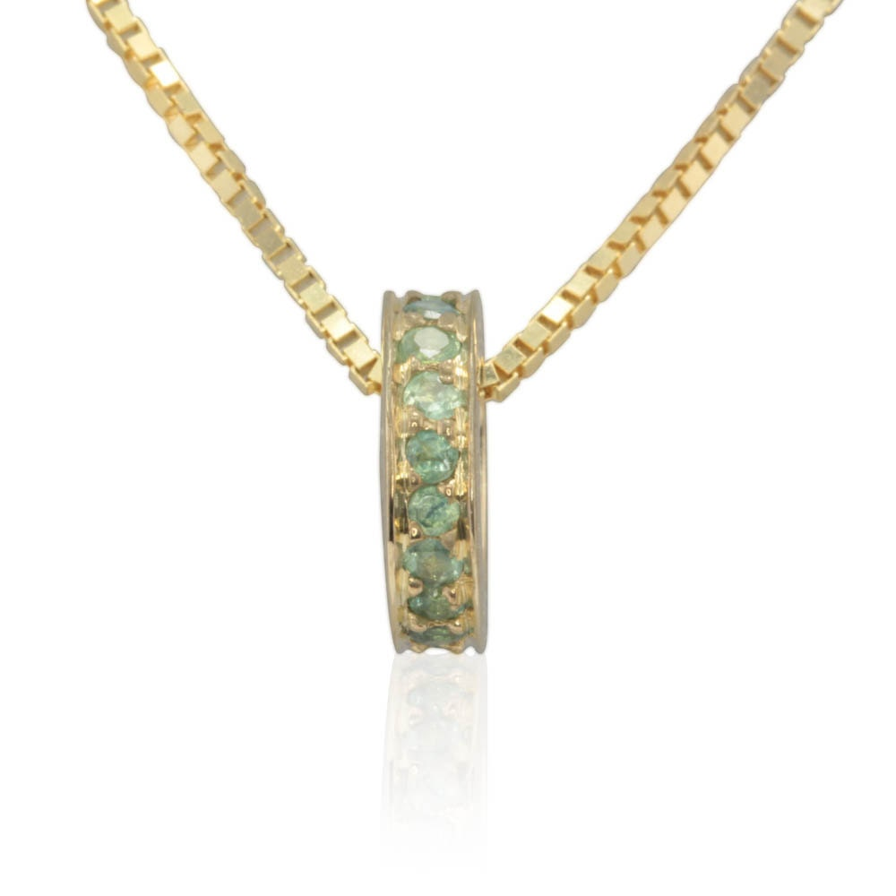 Natural Alexandrite Necklace: Natural Alexandrite Pendant In 14k Yellow Gold June