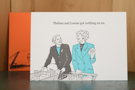 Thelma And Louise Letterpress Friendship Card Etsy