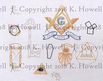 Masonic Hand Embroidery Pattern 00917cc61df8
