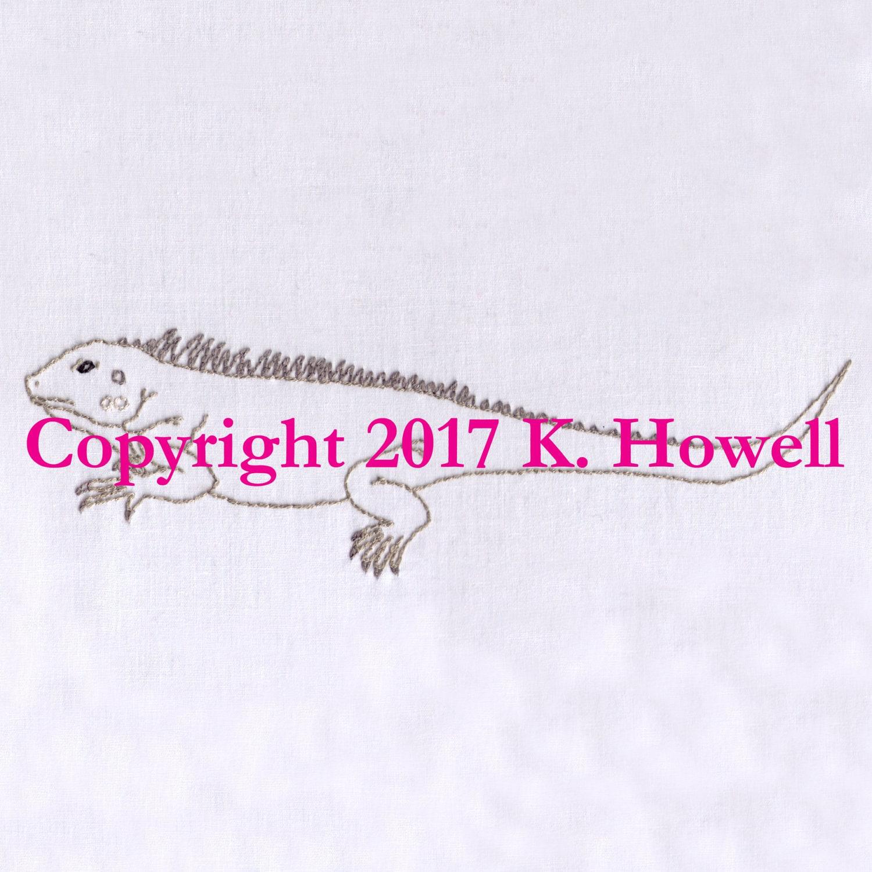 Iguana Hand Embroidery Pattern Lizard Pet Wild Desert Etsy