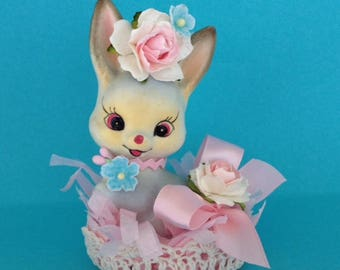 Easter Decoration Vintage Shabby Chic Bunny Rabbit Figurine Easter Ornament forEaster Party TVAT
