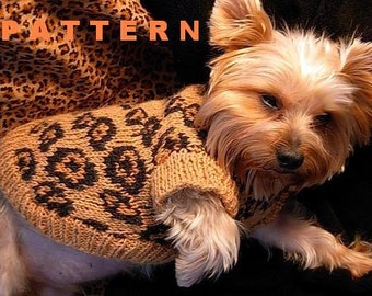 SEXY BEAST Dog Sweater Knitting Pattern - LEOPARD