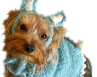 EASTER BUNNY Dog Sweater and HAT Knitting Pattern - Japanese Inspired