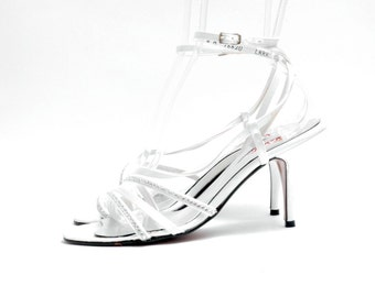 Satin Strappy Sandals Holiday Party Sandals Wedding Sandals
