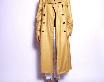 Yellow trench coat   Etsy
