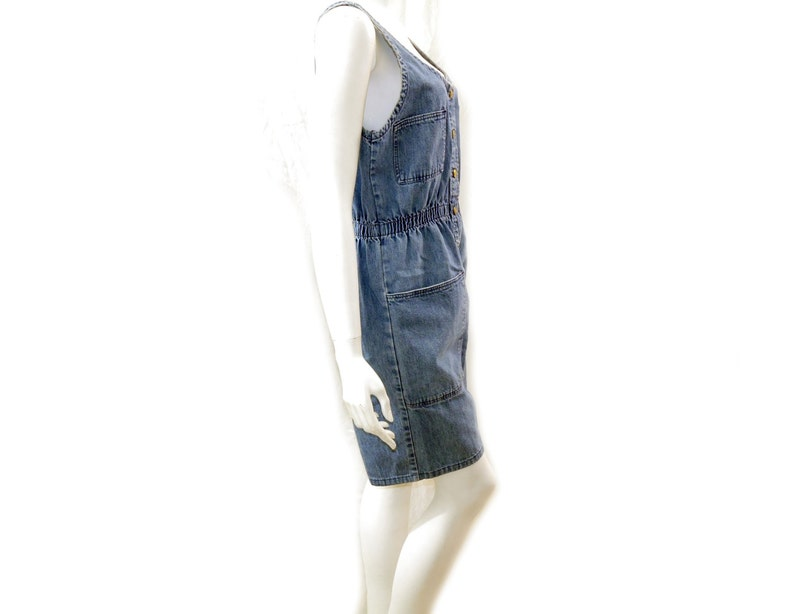 5bec980a92cd 80s Vintage Denim Romper Jumpsuit    Vintage High Waist Denim