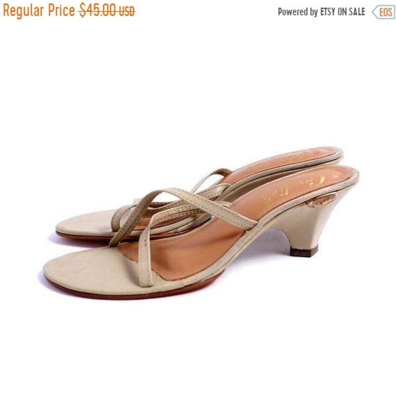 610d361754 On Sale Size 6.5 7 // Minimal Strappy Sandals Vintage | Etsy