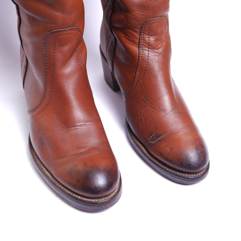 FRYE FRYE FRYE  botas     Caramel cuero    Fold Over    tamaño 8 3d7ece