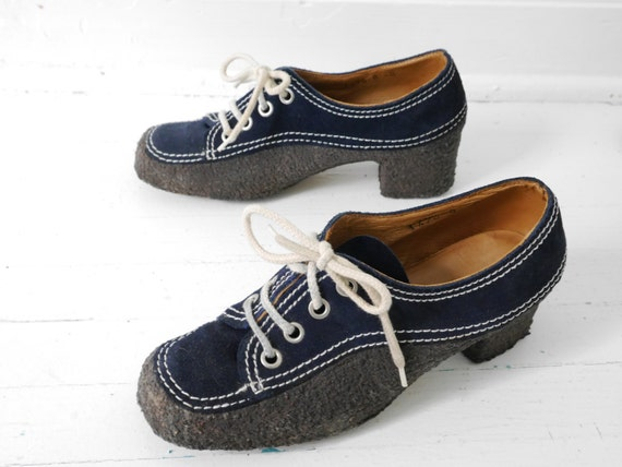 Rare 60s Unusual Vintage Wrapped Gummy Sole Oxford