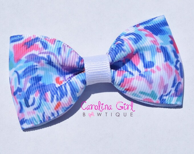 "Cabanna Cocktail ~ 3"" Hair Bow Tuxedo Bow ~ Lilly Inspired ~ Simple Bow ~ Boutique Bow for Babies Toddlers ~ Girls Hair Bows"