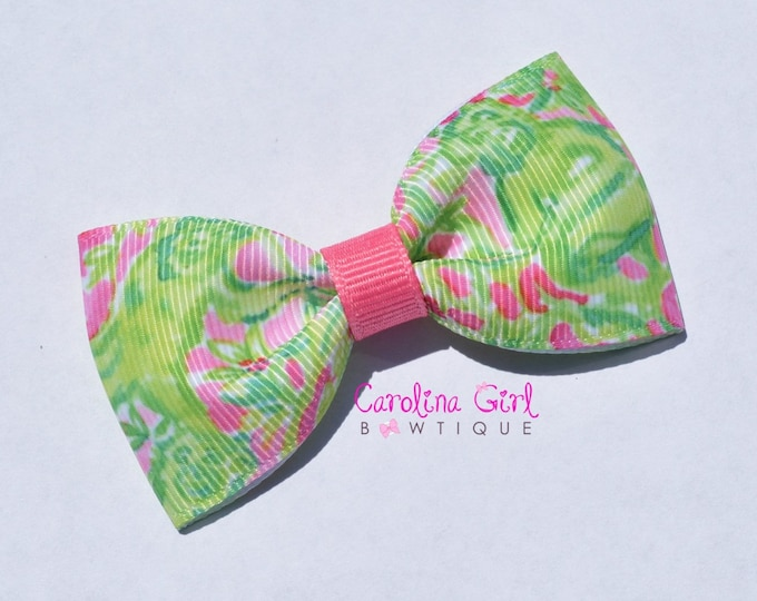 "Chimply Chic ~ 3"" Hair Bow Tuxedo Bow ~ Lilly Inspired ~ Simple Bow ~ Boutique Bow for Babies Toddlers ~ Girls Hair Bows"