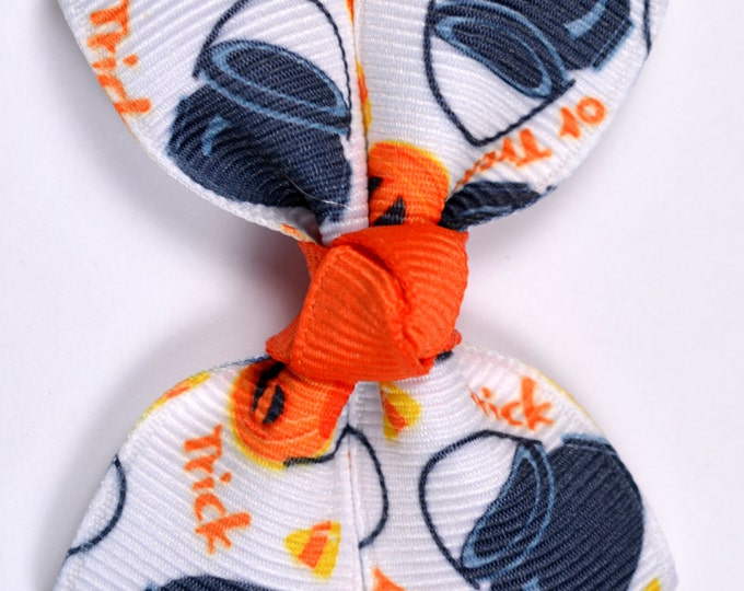 Halloween Treat Bags Hair Bow 2.5 Inch Pinwheel Boutique Bow for Babies Toddlers Girls Hair Bows