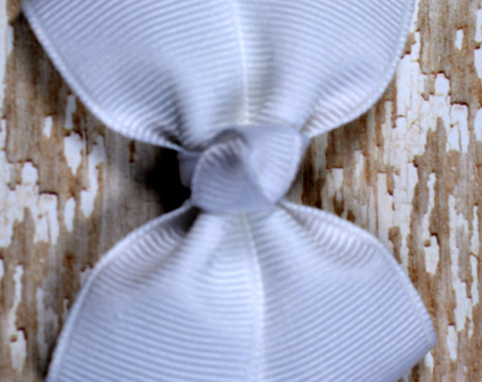 White Hair Bow 2.5 Inch Pinwheel Boutique Bow for Babies Toddlers Girls Hair Bows