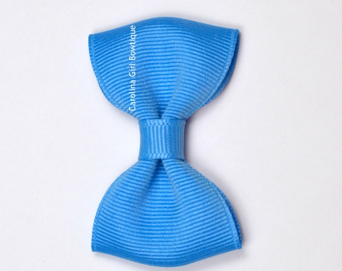 """Copen Blue 2.5"""" Hair Bow Tuxedo Bow ~ Simple Bow ~ Boutique Bow for Babies Toddlers Girls Hair Bows"""