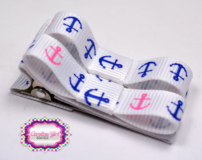 Anchor Hair Clips Basic Tuxedo Clips Alligator Non Slip Barrettes for Babies Toddler Girl Set of 2