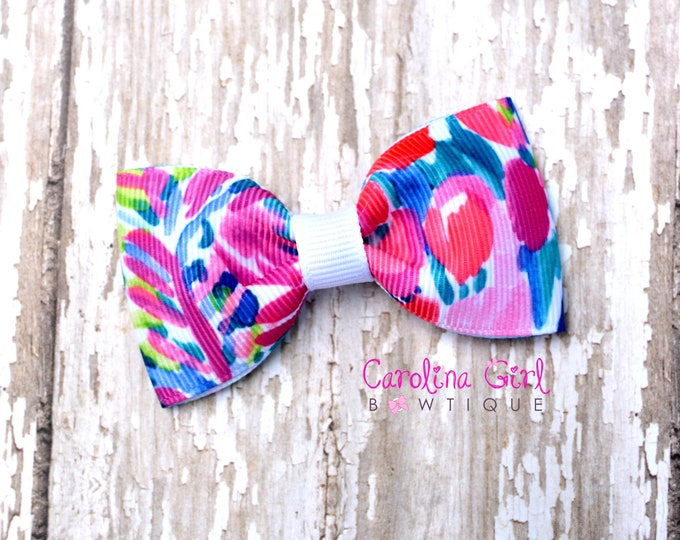 """Gumbo Limbo ~ 3"""" Hair Bow Tuxedo Bow ~ Lilly Inspired ~ Simple Bow ~ Boutique Bow for Babies Toddlers ~ Girls Hair Bows"""