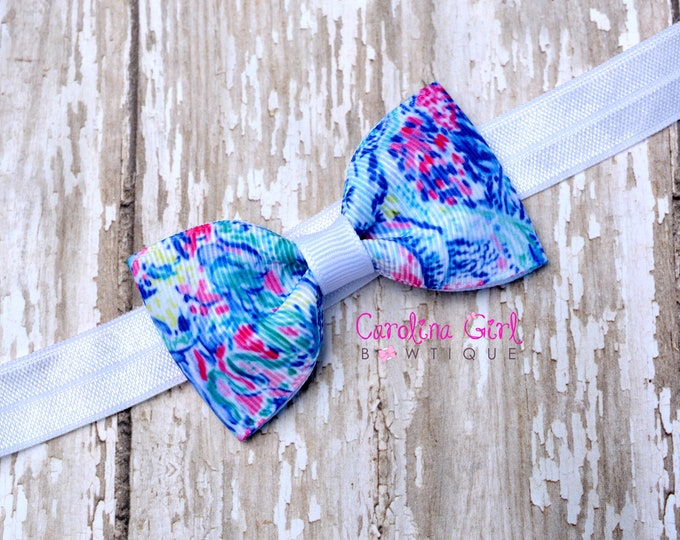 "Mermaids Cove Tuxedo Bow Headband ~ 3"" Hairbow ~ Baby Bow  Headband ~ Toddler Bow Headband ~ Infant Headband ~ Lilly Inspired"