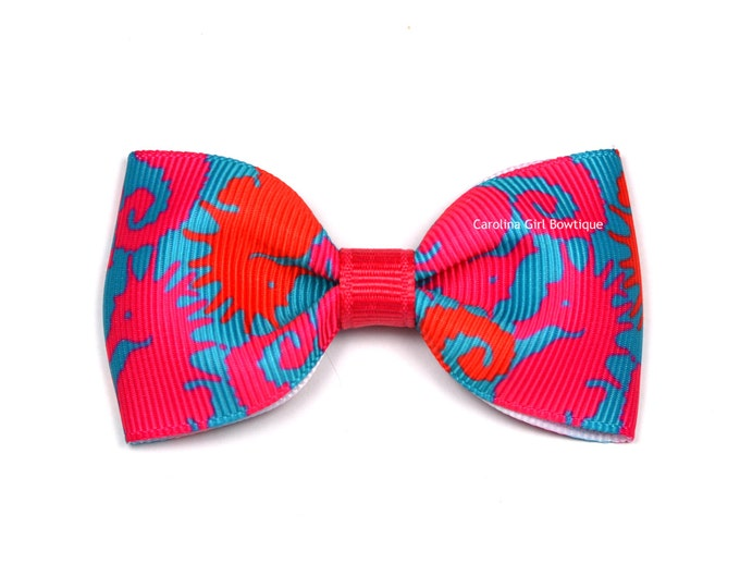 """Hold Your Horses ~ 3"""" Hair Bow Tuxedo Bow ~ Lilly Inspired ~ Simple Bow ~ Boutique Bow for Babies Toddlers ~ Girls Hair Bows"""