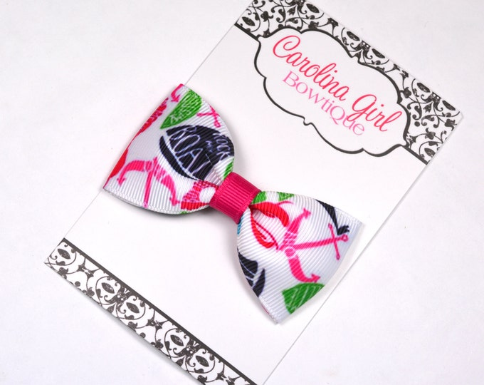 """Summer Classic ~ 3"""" Hair Bow Tuxedo Bow ~ Lilly Inspired ~ Simple Bow ~ Boutique Bow for Babies Toddlers ~ Girls Hair Bows"""