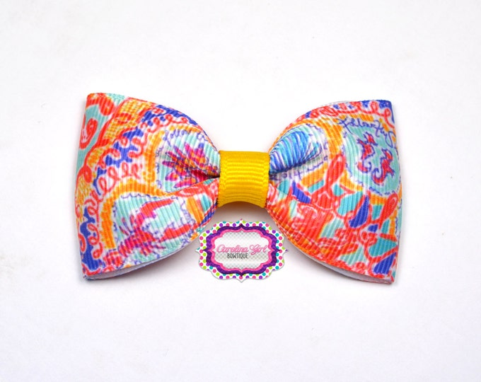 "Written in the Sun ~ 3"" Hair Bow Tuxedo Bow ~ Lilly Inspired ~ Simple Bow ~ Boutique Bow for Babies Toddlers ~ Girls Hair Bows"