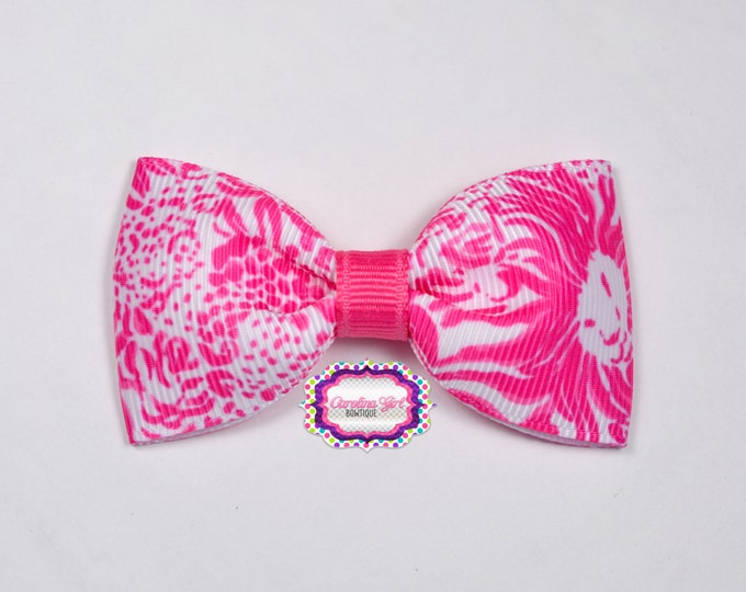 "Get Spotted ~ 3"" Hair Bow Tuxedo Bow ~ Lilly Inspired ~ Simple Bow ~ Boutique Bow for Babies Toddlers ~ Girls Hair Bows"