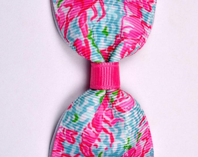 """Lobstah Roll ~ 3"""" Hair Bow Tuxedo Bow ~ Lilly Inspired ~ Simple Bow ~ Boutique Bow for Babies Toddlers ~ Girls Hair Bows"""
