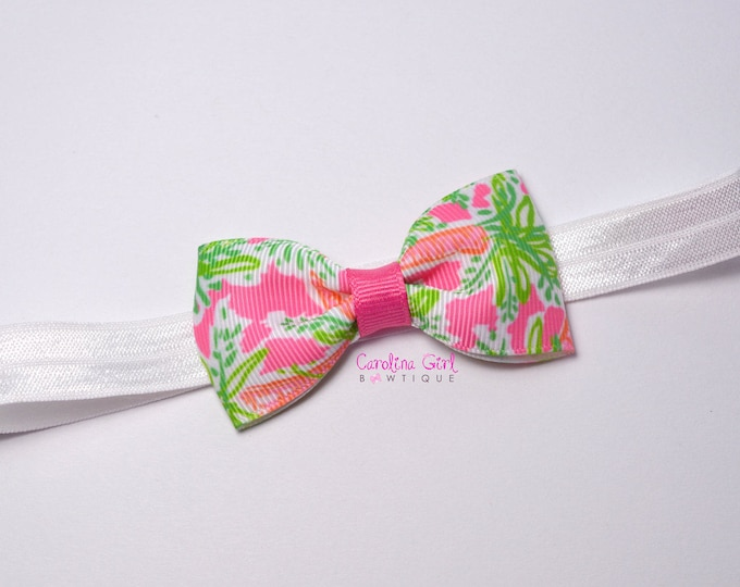 "Nibbles Tuxedo Bow Headband ~ 3"" Hairbow ~ Baby Bow  Headband ~ Toddler Bow Headband ~ Infant Headband ~ Lilly Inspired"