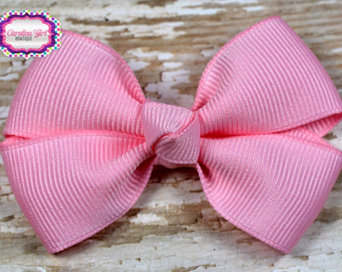 Pink Hair Bow 2.5 Inch Pinwheel Boutique Bow for Babies Toddlers Girls Hair Bows