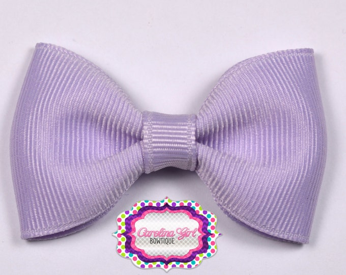 """Lavender 2.5"""" Hair Bow Tuxedo Bow Simple Bow Boutique Bow for Babies Toddlers Girls Hair Bows"""