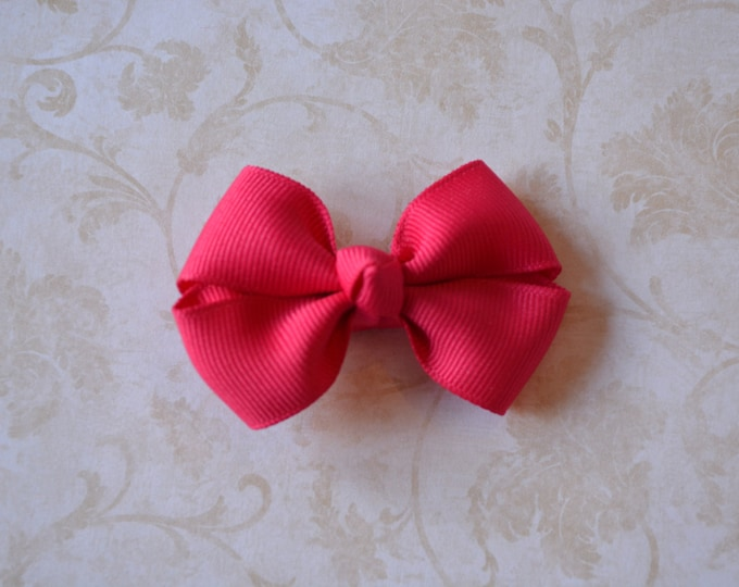 Shocking Pink Hair Bow 2.5 Inch Pinwheel Boutique Bow for Babies Toddlers Girls Hair Bows