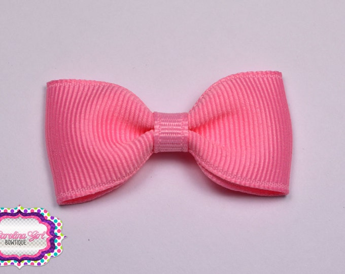 "Pink 2"" Hair Bow Tuxedo Bow Simple Bow Boutique Bow for Babies Toddlers Girls Hair Bows Teen Hair Accessory"