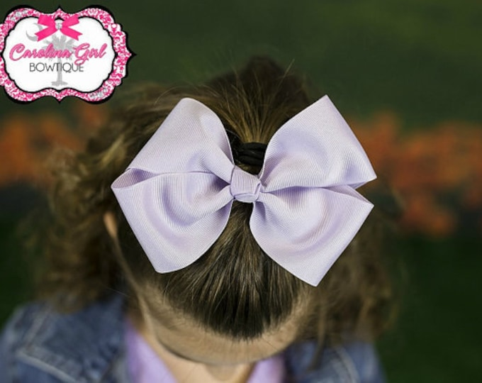 6 in. Lavender Hair Bow - XL Hair Bow - Big Hair Bows - Girl Hair Bows
