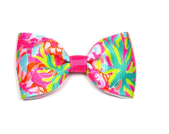 """Multi Lulu ~ 3"""" Hair Bow Tuxedo Bow ~ Lilly Inspired ~ Simple Bow ~ Boutique Bow for Babies Toddlers ~ Girls Hair Bows"""