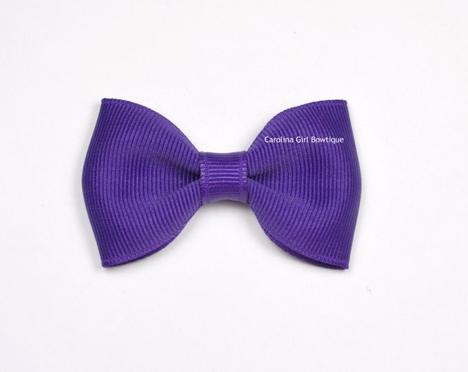 "Sugar Plum  2.5"" Hair Bow Tuxedo Bow ~ Simple Bow ~ Boutique Bow for Babies Toddlers Girls Hair Bows"