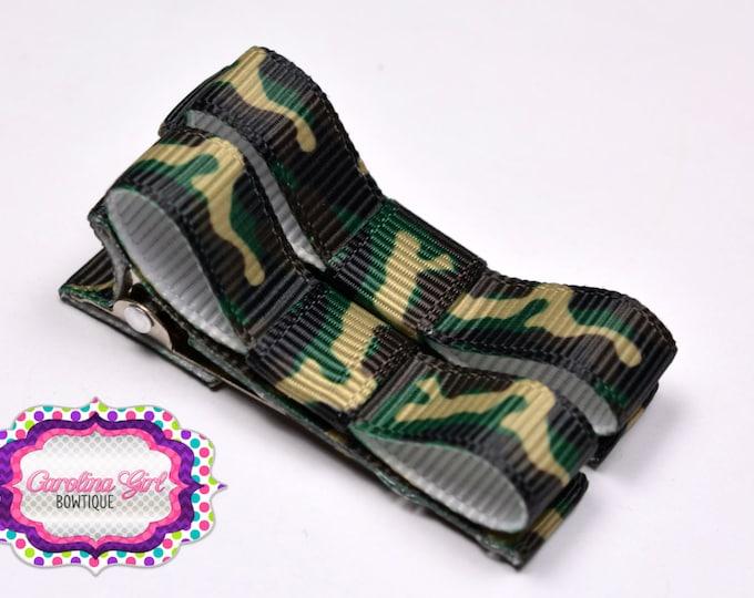 Camouflage Hair Clips Basic Tuxedo Clips Alligator Non Slip Barrettes for Babies Toddler Girl Set of 2