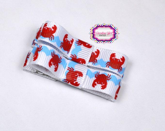 Crabs Hair Clips ~ Basic Tuxedo Clips Alligator Non Slip Barrettes for Babies Toddler Girl Set of 2