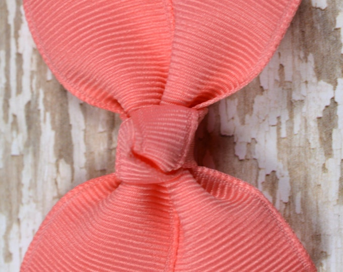 Coral  Hair Bow 2.5 Inch Pinwheel Boutique Bow for Babies Toddlers Girls Hair Bows