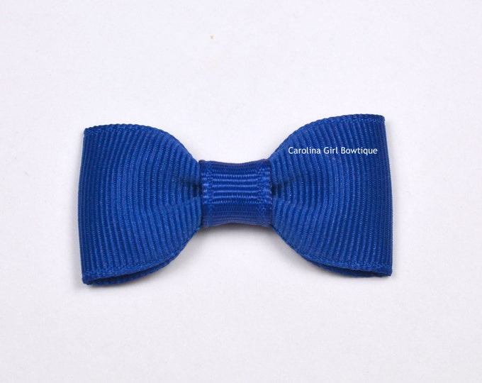 Royal Blue Baby Hair Bow ~ 2 in. Bows with No Slip Grip ~ Small Hair Bows Newborns Toddler Girls
