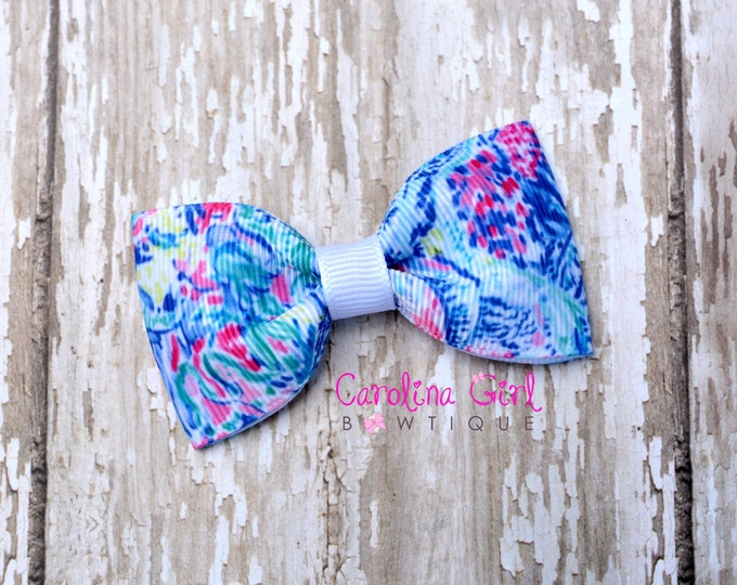 "Mermaids Cove ~ 3"" Hair Bow Tuxedo Bow ~ Lilly Inspired ~ Simple Bow ~ Boutique Bow for Babies Toddlers ~ Girls Hair Bows"
