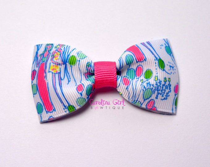 "Pop! ~ 3"" Hair Bow Tuxedo Bow ~ Lilly Inspired ~ Simple Bow ~ Boutique Bow for Babies Toddlers ~ Girls Hair Bows"